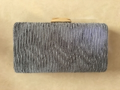 Grey Velvet Evening Bags and Clutches Hard Case Clutch Evening Bag HH-HD11351