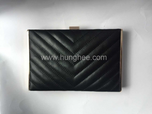 Black PU Leather Evening Hardbox Formal Party Mini Clutch Evening Bags Clutches HH-PU84843