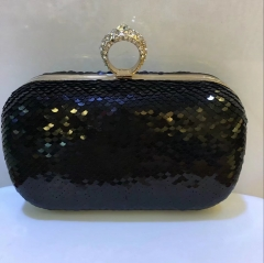 Bling Shiny Navy Sequins Wedding Party Handbag Purse Clutch Evening Bags HH-SE87769