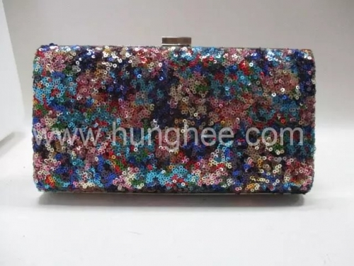 Bling Shiny Navy Sequins Wedding Party Handbag Purse Clutch Evening Bags HH-SE87772