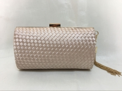 Beige Satin Weave Clutch Purses Evening Bags and Clutches HH-SA65611