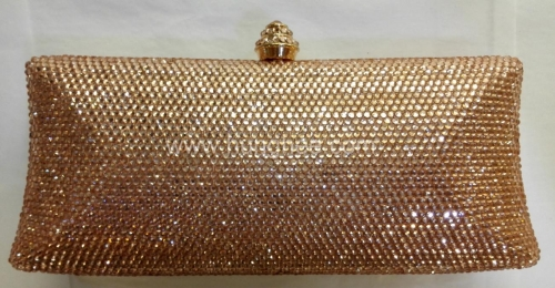 Topaz Full Rhinestones Wedding Minaudiere Crystal Clutch Evening Bags HH-HF17762