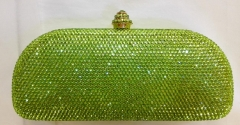 Full Diamond Green Color Crystal Clutch Evening Bags HH-HF17752