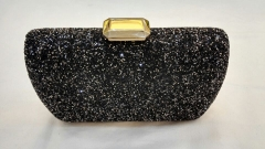 Black Full Crystal Rhinestones Metal Case Crystal Evening Bags HH-RH50534