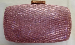 Light Rose Diamond Wedding Party Purse Fully Crystal Evening Bags HH-HF17738
