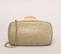 Gold Crystals on Glitter Diamond Clutch Crystal Evening Handbags HH-CR55180