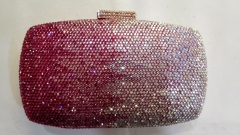 Rose and White Gradient Hot-fixed Full Rhinestones Crystal Evening Bags HFCR72237