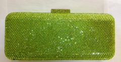 Full Diamond Green Party Minaudiere Crystal Clutch Evening Bags HH-HF17760