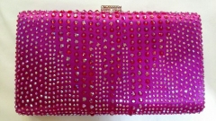 Hot Rose Rhinestone Crystal Clutch Purse Crystal Evening Bags Clutches HH-RH50740