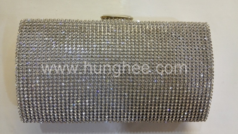 Clear Crystal Mesh Diamond Purse Crystal Evening Bags HH-CR72816