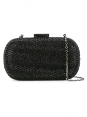 Luxury Black Crystals Hot Fix Clutch Purses Crystal Evening Clutches HH-CR40150