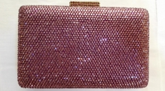 Bling Light Rose Full Diamond Crystal Bridal Evening Clutch Bags HH-HF17742