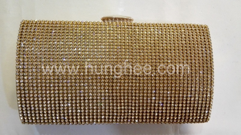 Gold Crystal Mesh Diamond Purse Crystal Evening Bags HH-CR72949