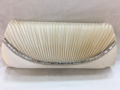 Rhinestones Clutch Bridal Party Pleated Satin Flap Over Clutch HH-SSA35856