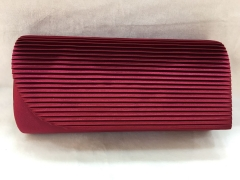 Brownish Red Satin Pleated Wedding Bridal Party Clutch Handbags HH-SSA35915