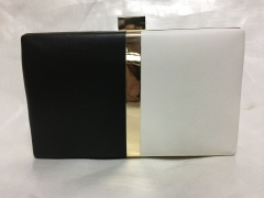 Half Black and Half White Faux Leather Evening Clutch Bags HH-PU30523