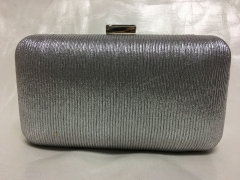Silver Pleat Faux Leather Clutch Evening Bags Purses HH-PU30532