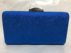 Navy Blue PU Leather Box Clutch Evening Bags HH-PU30552