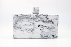 Marble Acrylic Box Clutch Resin Evening Bags HH-AC82366