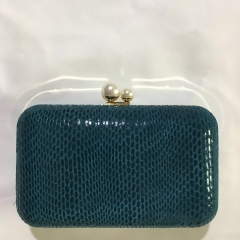 Green Snakeskin Leather Box Cluthes PU Leather Evening Clutch HH-PU10230