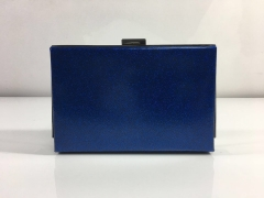 Navy Blue Faux Leather Hard Clutches PU leather Evening Purses HH-PU10308