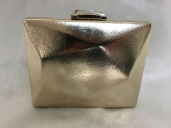 Gold Metallic Faux Leather Minaudiere Evening Bag Ladies PU Evenging Bags HH-PU71323