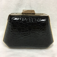 Black PU Leather Clutch Evening Handbag Party Cocktail Purse Wallet Evening Clutches HH-PU25259